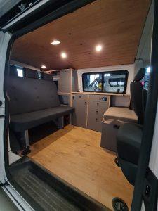 VW T5 T6 Möbelzeile Grau Ellie Vans camper conversion