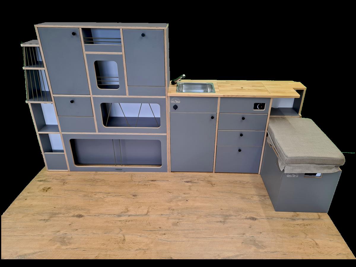 Ellie Vans VW T5 T6 Ausbau Möbelzeile Küche